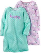 Carter's Girls' or Little Girls' 2-Pk. Happy Owls Nightgown Set