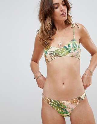 Vitamin A Palm Print Luciana Full Cut Bikini Bottom