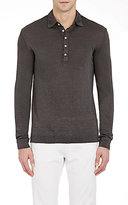 Massimo Alba Men's Long-Sleeve Polo Shirt-GREY