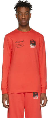 Off-White Red Monalisa Long Sleeve T-Shirt
