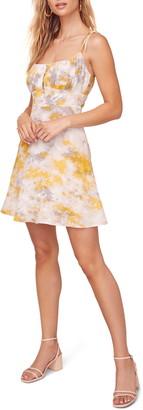 ASTR the Label Mon Cherri Floral Print Tie Shoulder Minidress