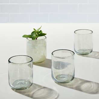west elm Mexican Recycled Luster Double Old Fashioned Glasses (Set of 4)
