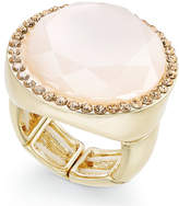 INC International Concepts Gold-Tone Pink Stone & Pavé Ring, Created for Macy's
