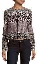 Giambattista Valli Long-Sleeve Floral Tweed Jacket