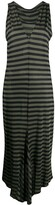 Romeo Gigli Pre Owned 1990s fitted striped dress