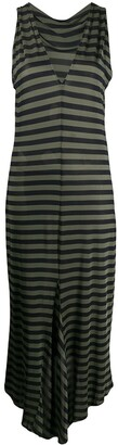 Romeo Gigli Pre-Owned 1990s Fitted Striped Dress