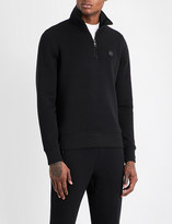 Michael Kors Half-zip cotton-jersey sweatshirt
