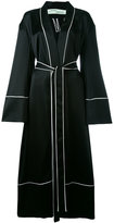 Off-White belted robe coat - women - Silk/Polyester/Acetate - S