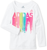 adidas Toddler Girls) Graphic Logo Long Sleeve Tee