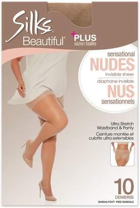 Silks Plus Invisible Sheer Sandalfoot Comfort Pantyhose