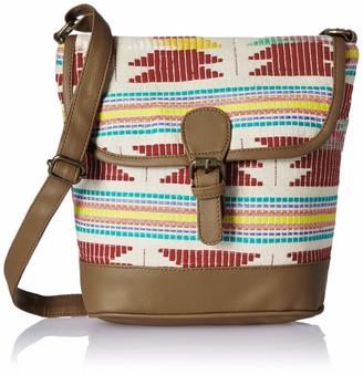 Studio99 Women Crossbody Sling Bag-Boho Jacquard Canvas and Vegan PU Leather College for Ladies Teens