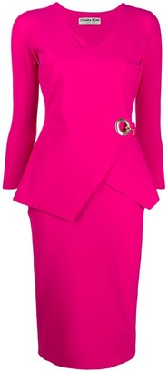 Le Petite Robe Di Chiara Boni Side-Hoop Detail Dress