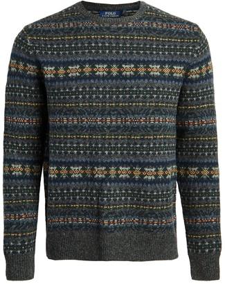 Polo Ralph Lauren Wool Fair Isle Crew Neck Sweater