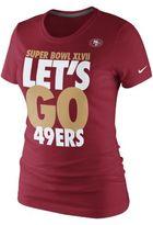 Nike Championship Bound Let's Go NFL San Francisco 49ers Women's T