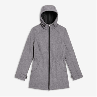 Joe Fresh Women's Active Coat, Light Grey Mix (Size L)