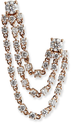 Anita Ko 18k Double-Piercing Diamond Tri-Loop Earring