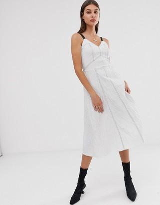 Asos stripe cotton jacquard cami dress
