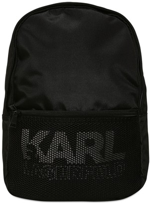 Karl Lagerfeld Paris Logo Print Nylon Backpack