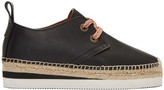 See by Chloe Black Leather Glyn Espadrilles