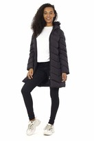 Thumbnail for your product : Brave Soul Womens Kylie Long Padded Jacket - Black/Black - 14 UK