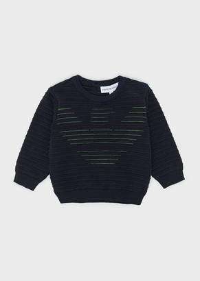 Emporio Armani Sweater With Tubular Workmanship And Logo