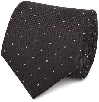 Reiss Liam - Silk Polka Dot Tie in Chocolate