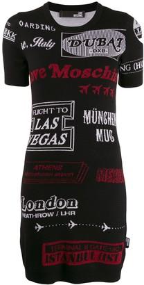Love Moschino knitted cities dress