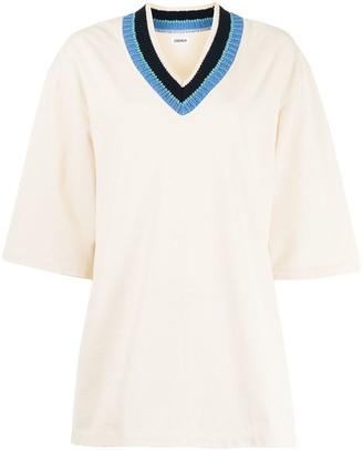 Coohem Knitted Collar T-Shirt