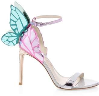 Sophia Webster Chiara Metallic Leather Stiletto Sandals