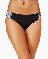 Anne Cole Crochet Shirred-Side Hipster Bikini Bottoms
