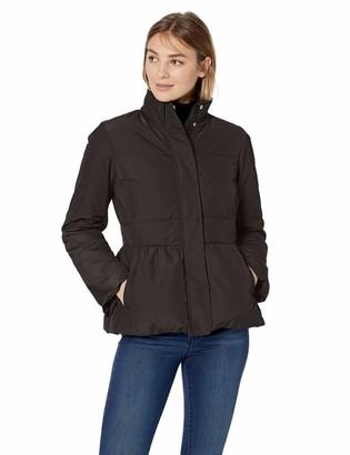Lark & Ro Amazon Brand Women's Peplum Puffer Jacket