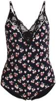 Stella McCartney GRUNGY FLOWER Swimsuit black
