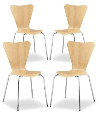 Ebern Designs Welaka Dining Chair Color: Natural