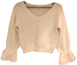 Jill Stuart White Wool Knitwear