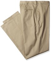 Savane Men's Big and Tall Flat Front Ultimate Performance Chino