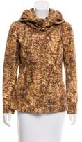 Oscar de la Renta Silk Printed Jacket