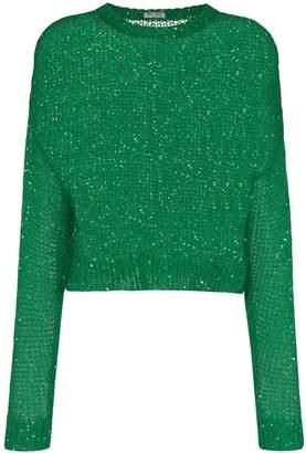 Miu Miu loose-knit sequin jumper