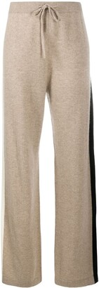 Chinti and Parker Side Stripe Cashmere Trousers