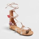 art class Girls' Naudia Lace Up Gladiator Sandals - Art Class Tan