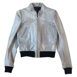 Balenciaga Grey Leather Leather jackets