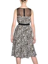 Giambattista Valli Polka Dot Print Crepe De Chine Dress