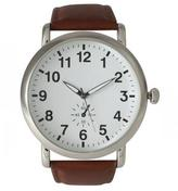 Ily Couture Classic Strap Watch - Brown