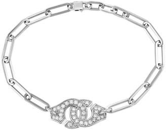 Dinh Van Full Diamond Menottes R12 Bracelet - White Gold