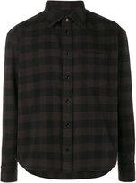 Balenciaga check flannel shirt