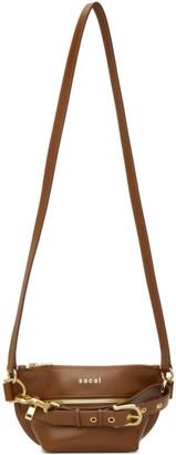 Sacai Brown Trapezoid Wallet Bag