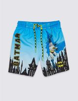 Marks and Spencer BatmanTM Printed Swim Shorts (9 Months - 8 Years)