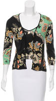 Roberto Cavalli Embellished Floral Print Cardigan Set