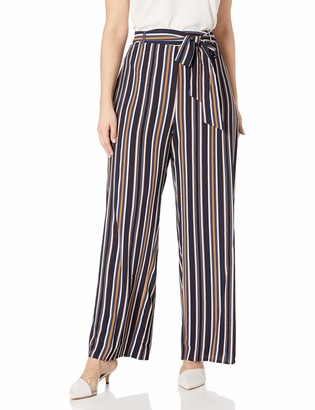 City Chic Women's Apparel Women's Plus Size Wide Legged Stripped Pant