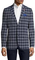 Ben Sherman Plaid Notch Lapel Sportcoat