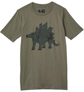 Cotton On Downtown Short Sleeve Tee (Toddler/Little Kids/Big Kids) (Silver Sage/Steg Dino) Boy's Clothing
